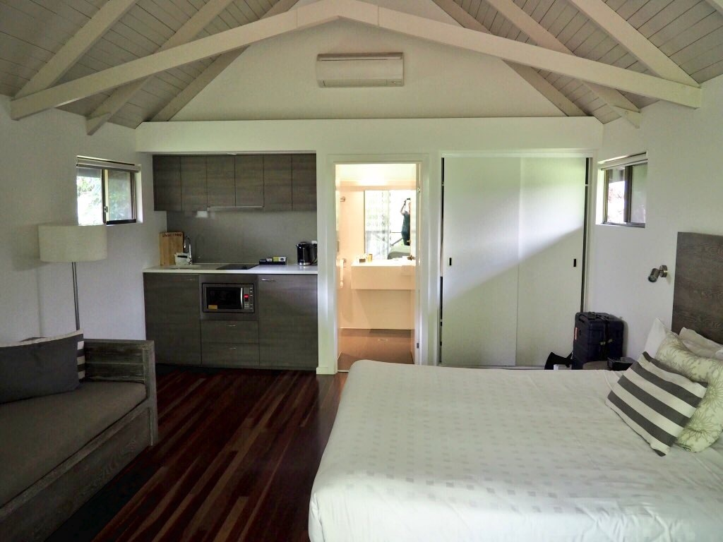 Spacious accommodation at Palm Bungalows