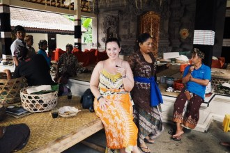 I was invited to have coffee at a local temple after men who worked at my hotel recognised me