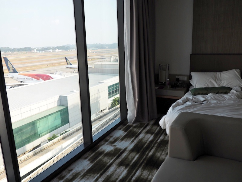 Room with a (runway) view at Crowne Plaza Changi Airport