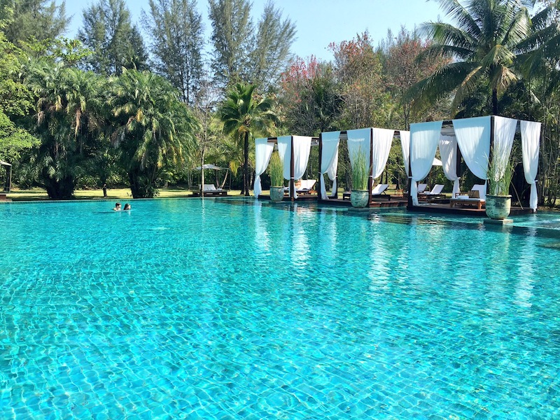 Insta-worthy pool at The Sarojin