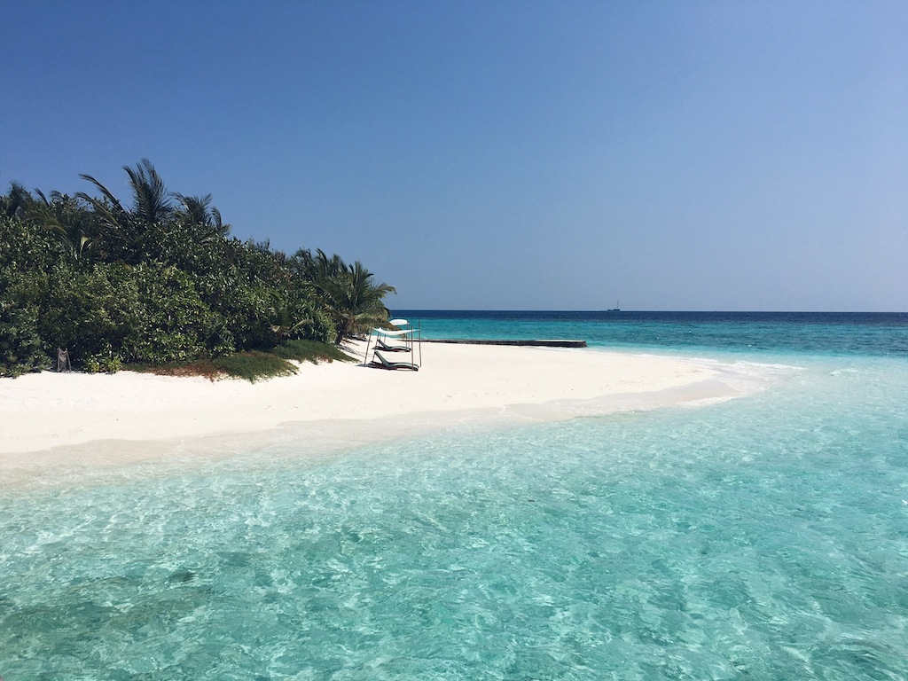 Who needs a private sandbank when the resort looks like this?