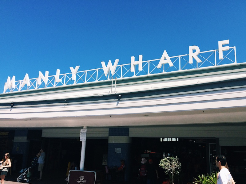 Taking the ferry to Manly Wharf