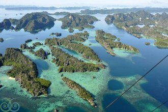 Bird's eye view of Raja Ampat by Misool Eco Resort