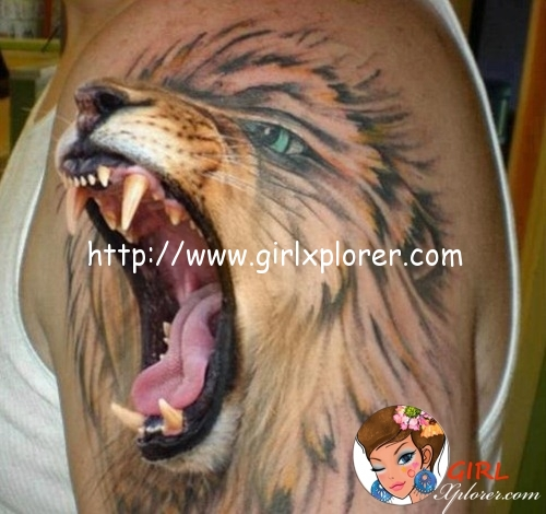 Lion-Roaring-Tattoo-Design