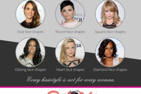 Infographic: 6 Best Hair Style for 6 Face Shapes