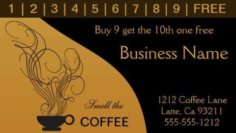 Girly Loyalty Rewards Punch Card Business Cards - Girly Business Cards