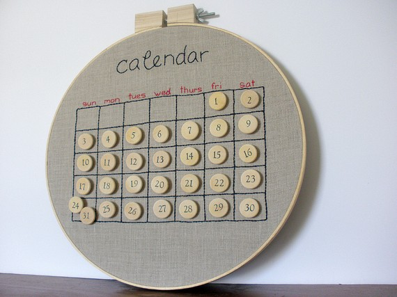 Corkboard wall calendars for the home office - GirlyPC