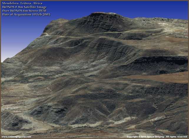 Digital Elevation Model (DEM) — Eritrea, Africa — IKONOS Image