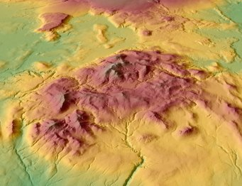 WorldDEM™ Digital Elevation Model of an area in South Province, Iceland. This is an intermediate product.