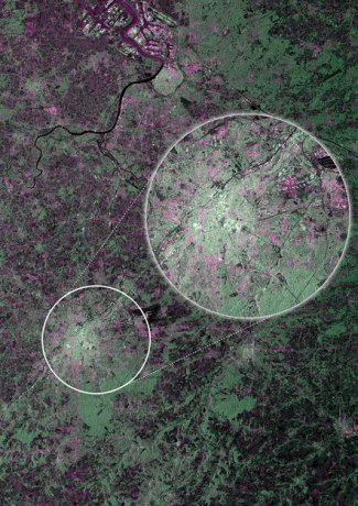 Brussels as the first image from Sentinel-1A