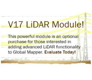 Global Mapper v17 LiDAR module