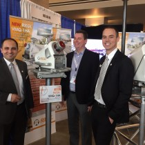 Marcus Reedy of David Evans and Associates (in the middle of the picture), along with Harald Teufelsbauer and Justin Brooks of RIEGL, with the NEW VMQ-1HA