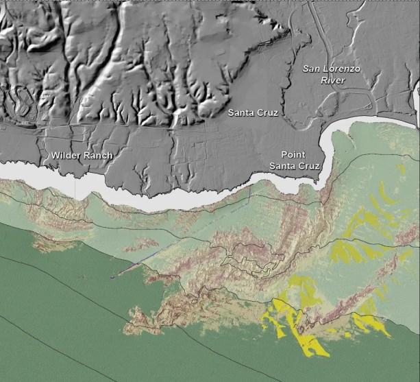 """Seafloor Character"" map of the Santa Cruz Region"