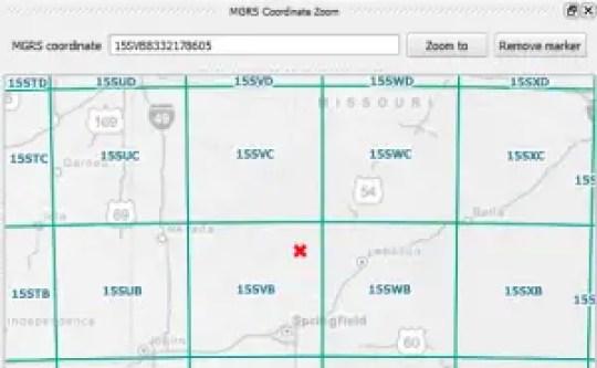 MGRS coordinates in QGIS
