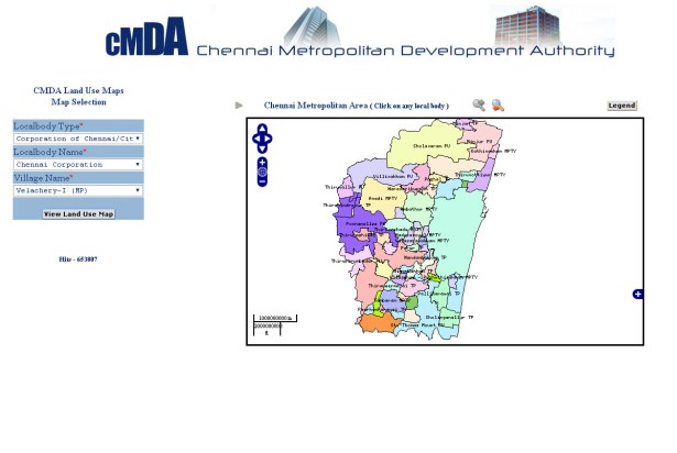 Chennai Metropolitan Development Authority web portal