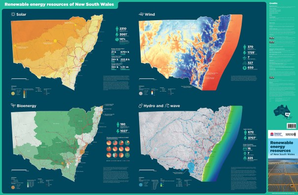 NSW renewable energy resources map