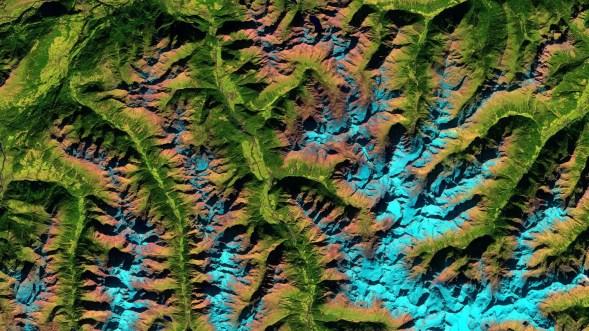 Ötztal Alps,taken with Sentinel-2A