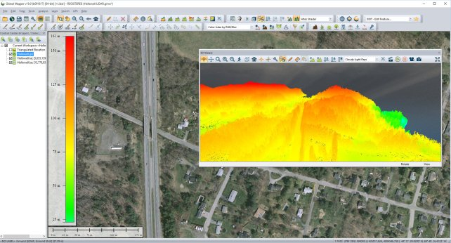 LiDAR Elevation model created in Global Mapper- 3D Mesh Generation