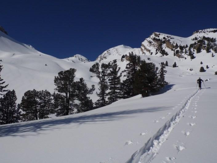 montee en ski de rando laverq ubaye