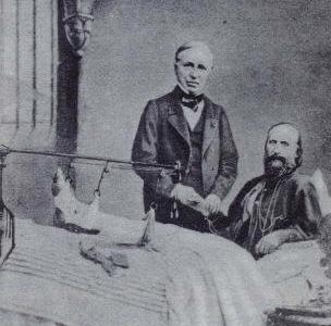 Nelaton visita Garibaldi ferito