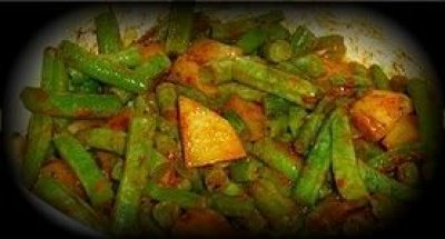 how to cook frozen green beans in the microwave