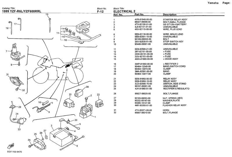 02 Yamaha R6 Fuse Box - Wiring Data Diagram