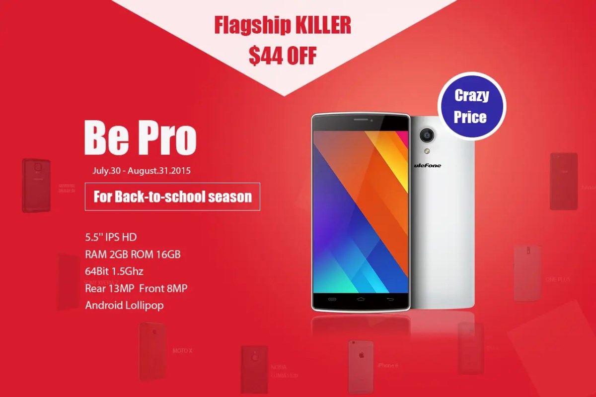 Ulefone Be Pro price cut to $125.99 for back to school promotion