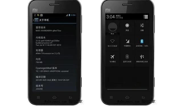 CyanogenMod CM10.1 xiaomi m1
