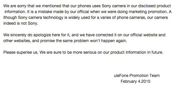 Ulefone Be Pro камера