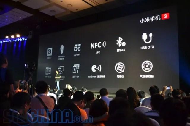 xiaomi mi3 features