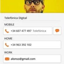Firefox OS Contact Input