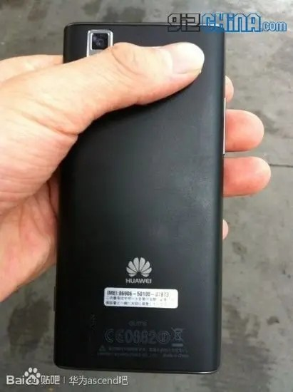 huawei ascend p2 leaked photos rear