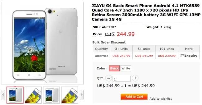 jiayu g4 discounts