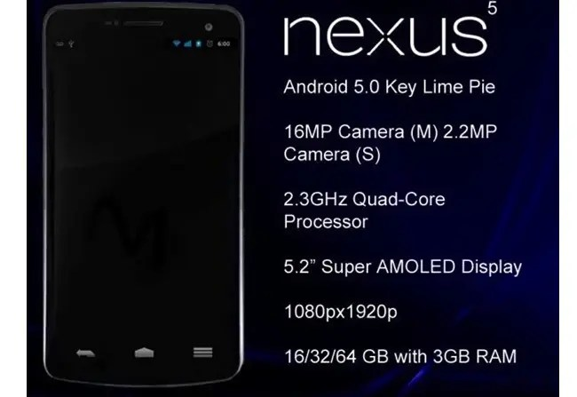 lg nexus 5 render and specifications