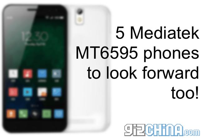 5 смартфонов mt6595