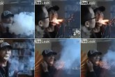 chinese man breathes smoke and fire video