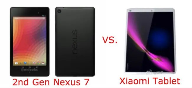 nexus 7 2 vs xiaomi tablet