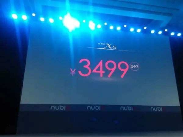 x6 64g price Update: Nubia X6 launched with 6.44 inch 1080 display, dual SIM and Snapdragon 801