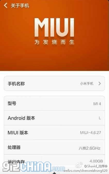 Xiaomi Mi4 Specs Xiaomi Mi4 killer feat...