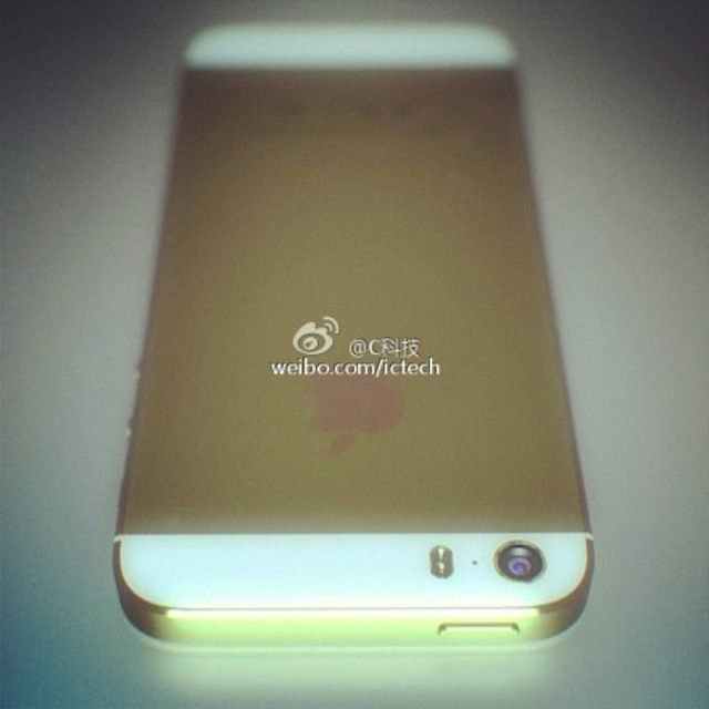 iphone 5s shows up in gold