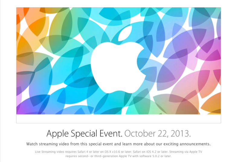Apple live stream october 22 event