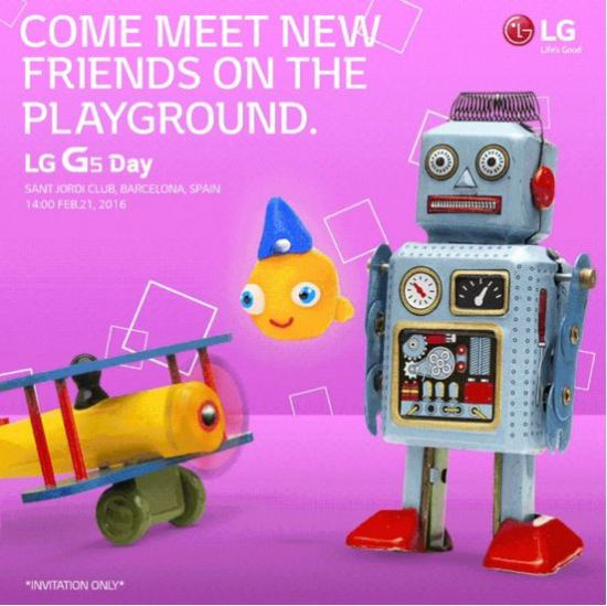 LG G5 launch event invitation and date