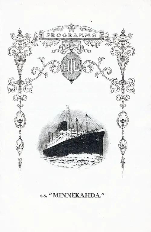 Grand Concert Program, SS Minnekahda, Atlantic Transport Line, 29