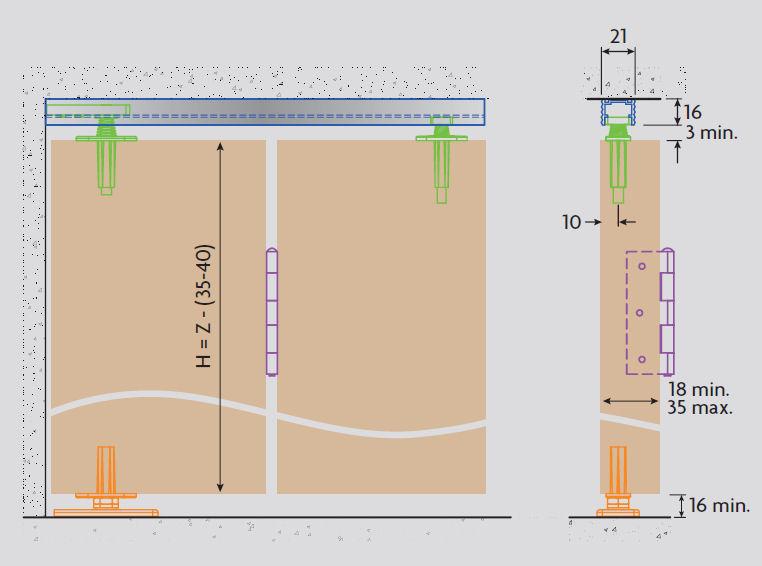 Bifold Door Gear System For Bi Folding Wardrobe Cupboard