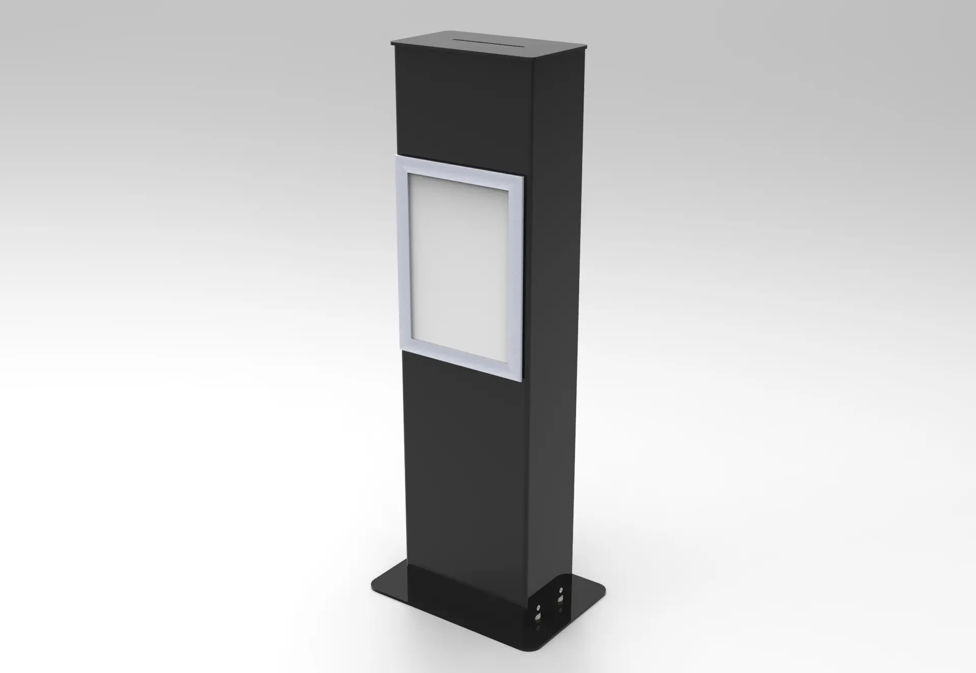 Black Floor Standing Suggestion Box Black Acrylic