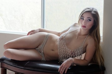 Kelsey Jay laying around waiting for you