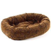 Bowsers Microvelvet Donut Dog Bed Urban Animal Leopard ...