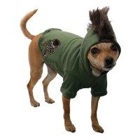 Camo Skull Mohawk Dog Hoodie