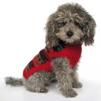 Alqo Wasi Red Splendor Handknit Alpaca Dog Sweater ...