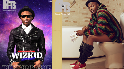 Wizkid Like Never Seen Before! Sits On A Toilet On The Cover Of Fab Magazine